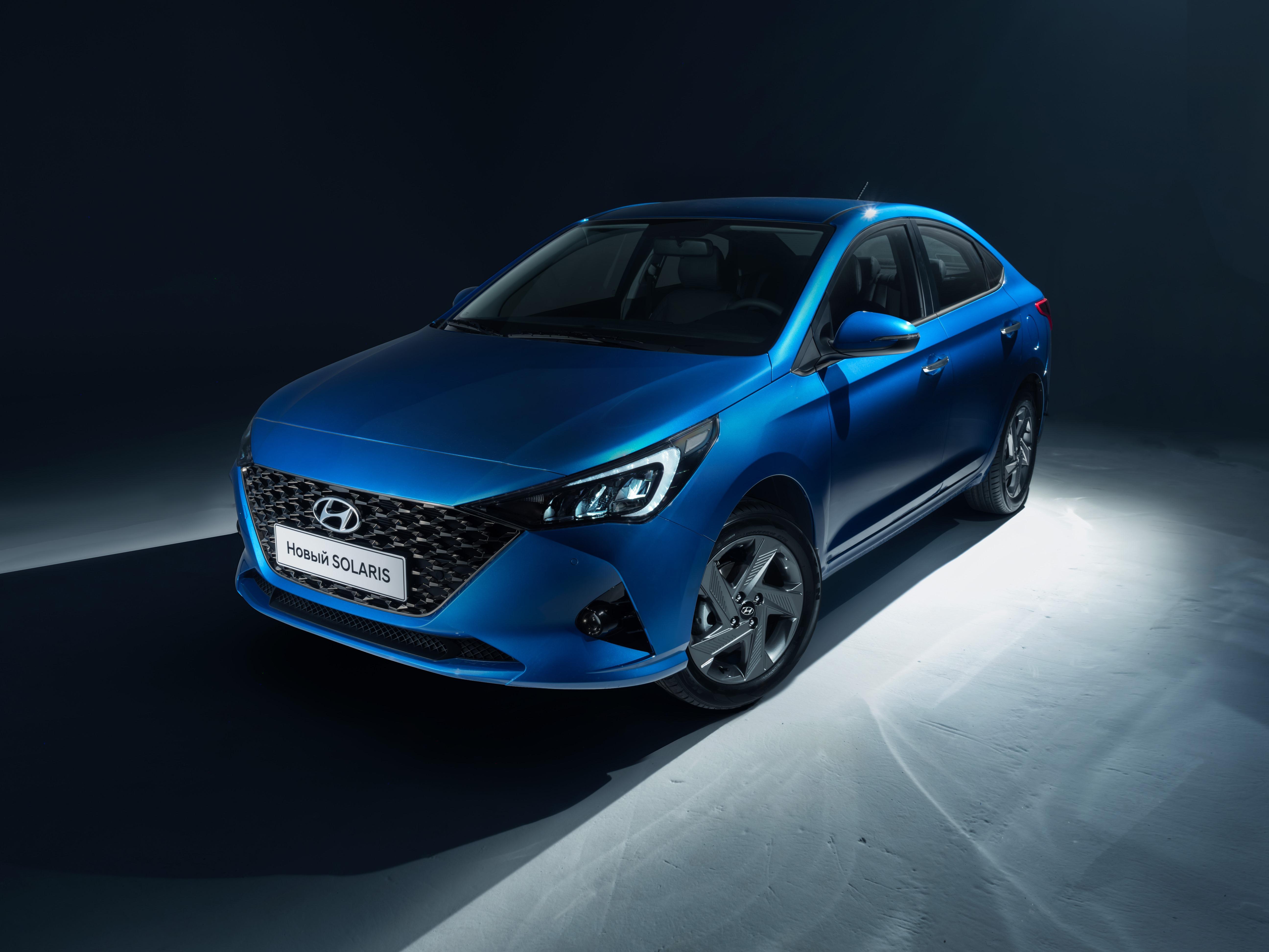 Hyundai Motor представила первые официальные фото обновлённого Hyundai Solaris