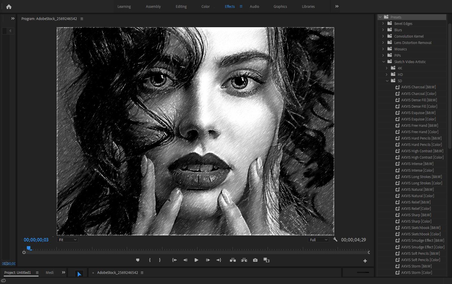 Создание покадровой отрисовки видео с помощью AKVIS Sketch Video
