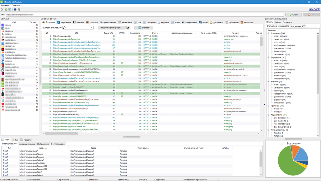 SiteAnalyzer — бесплатная программа для аудита и анализа сайта